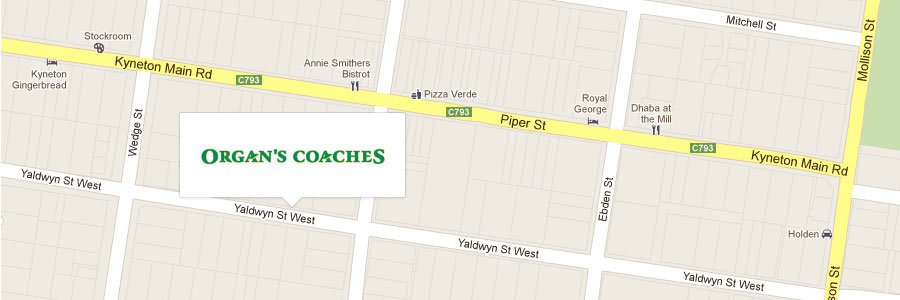 Organ's Coaches - 32 Yaldwyn Street West, Kyneton
